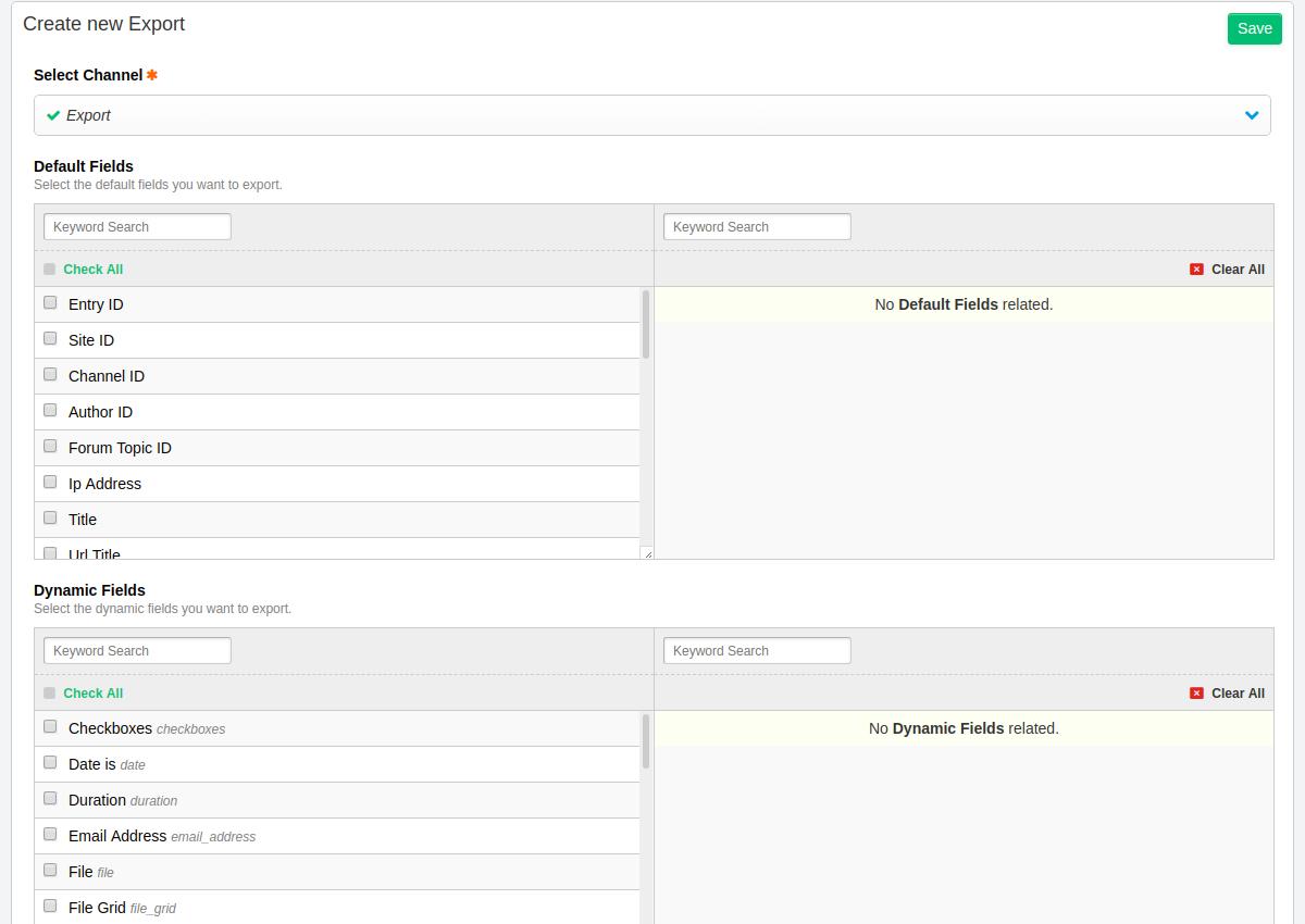 5 - Create new settings 2