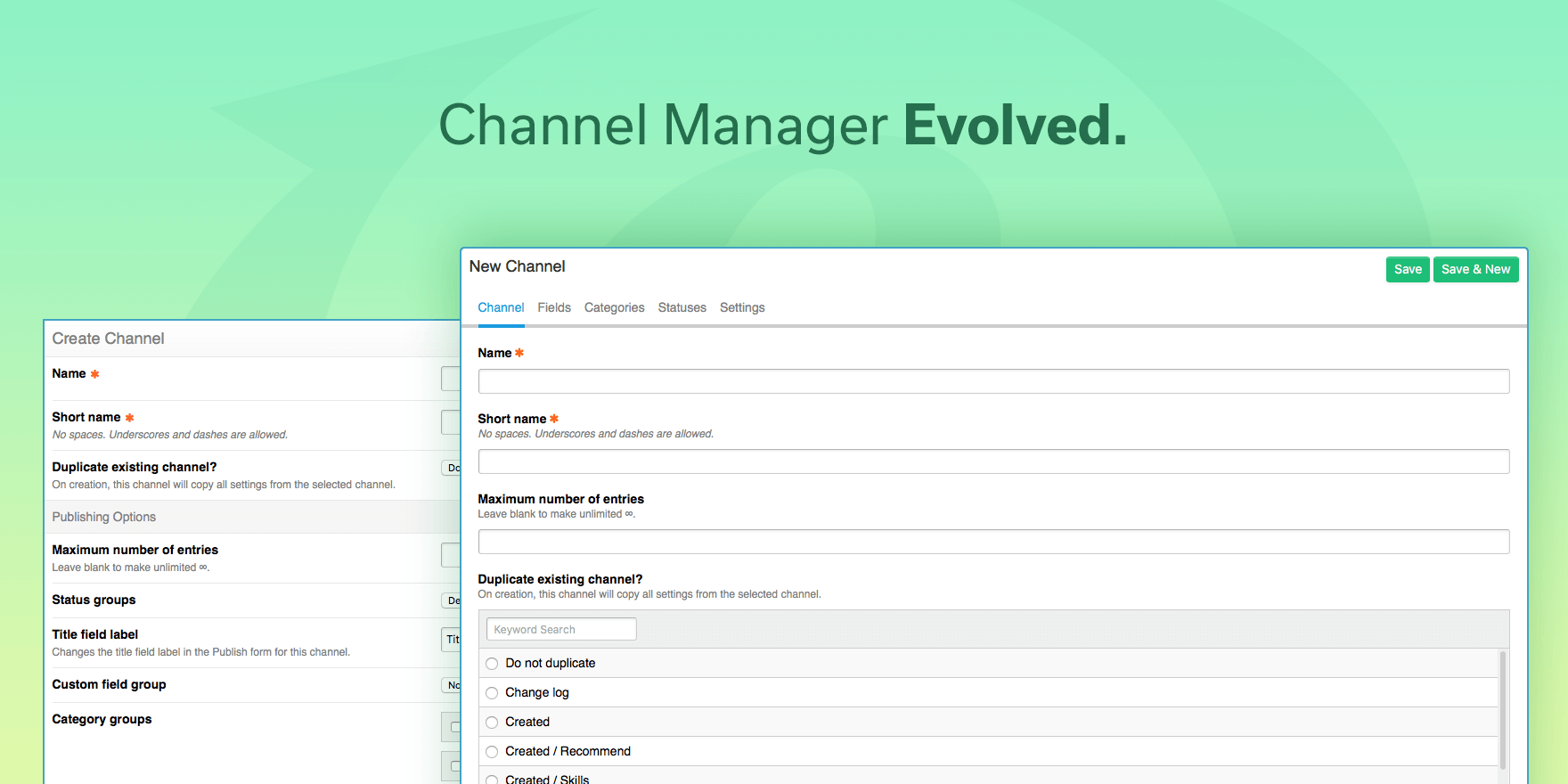 Channel Manager Evolved
